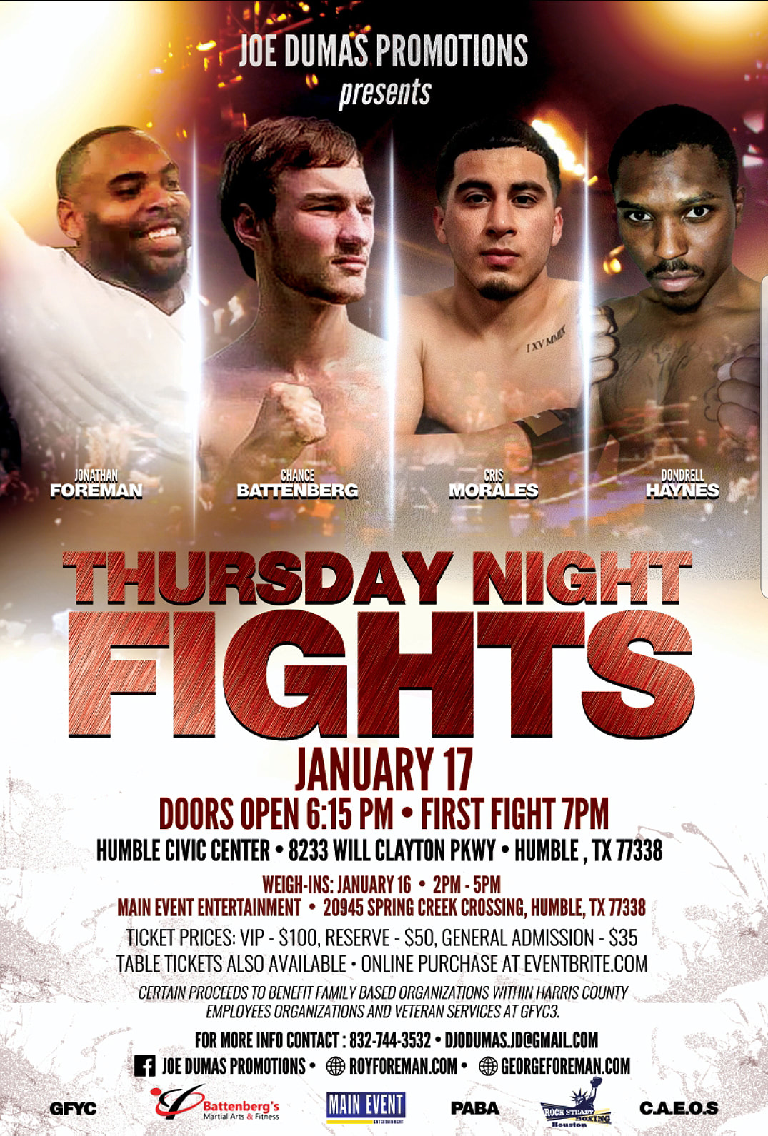 Thursday Night Fights January 17, 2019